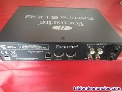 Vendo tarjeta de sonido focusrite saphire 6 usb