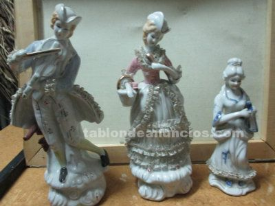 3 figuras de porcelana