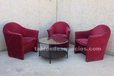 3 sillones + mesa