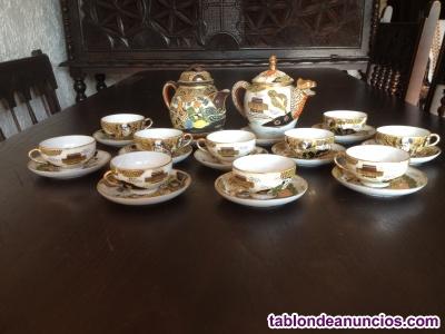 Antiguo juego de café en porcelana china