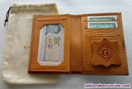 Cartera billetera de hombre glenmuir de piel/caucho de color
