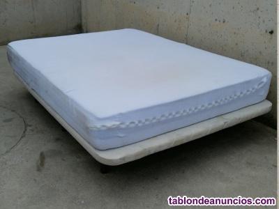 Colchón con somier 145x190cm