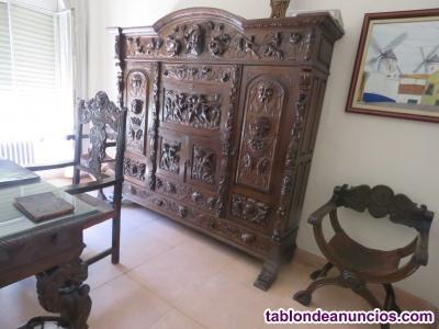 Despacho y comedor de estilo renacimiento español