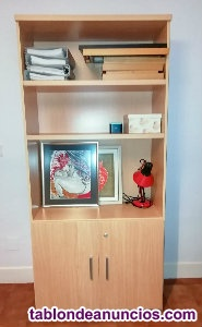 Estantería/armario oficina de madera