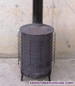 Estufa de leña de ø38x60cm