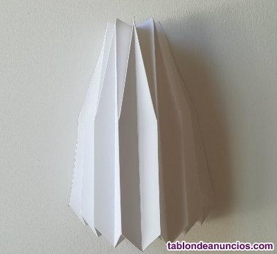 Lámpara de pared (aplique) hecha a mano, origami, nueva sin