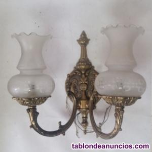 Lote 3 lámparas cobre