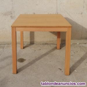 Mesa de madera 80x80x76cm