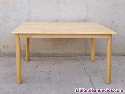 Mesa de madera maciza 120x75cm