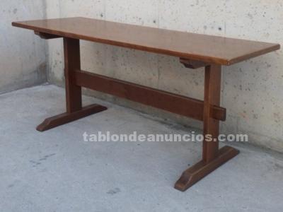 Mesa rústica de madera 150cm