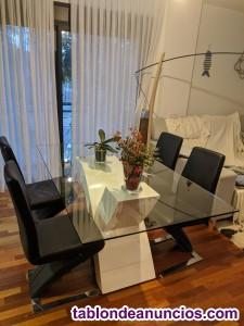 Mesa y sillas de diseño_perfecto estado