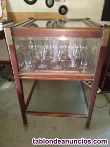Mueble bar caoba