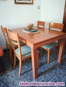 Oferta de mesa y 4 sillas