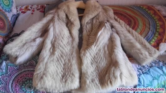 Oferta!! pareja de abrigos de piel visón y zorro blue en