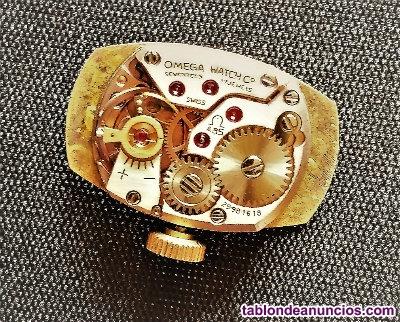 Reloj omega geneve, de mujer, caja y pulsera de oro macizo
