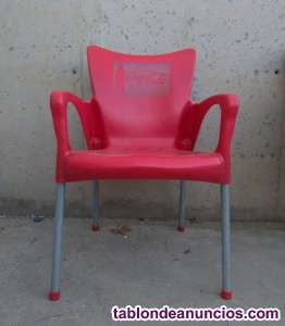 Silla apilable color rojo (4 uds)
