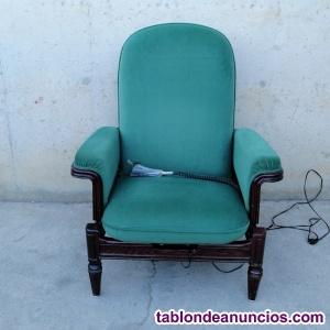 Sillón reclinable vintage con mando