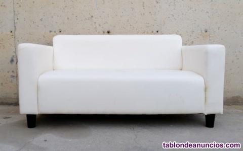 Sofá tela 2 plazas 144x70x70cm
