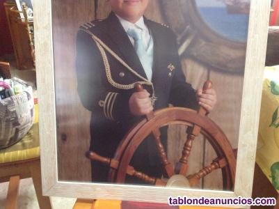 Traje comunión niño capitán azul marino
