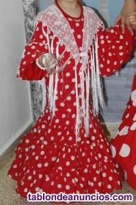 Traje flamenca niña talla 3-4 años