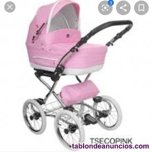 Vendo carrito de bebe rosa de polipiel