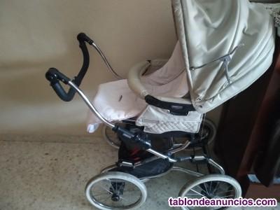 Vendo carro de bebe más capazo y plástico para la lluvia.