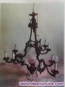 Vendo lámpara bronce de techo