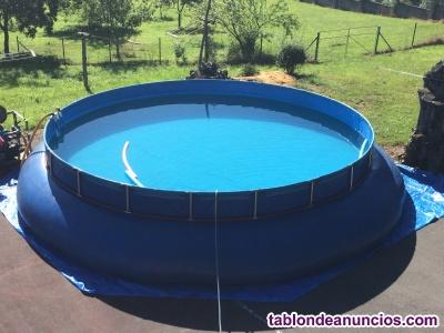 Vendo piscina de lona desmontable de diametro 7 m.