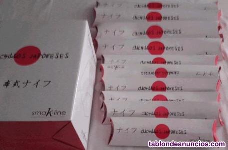 0a37 juego de 10 cuchillos japoneses smak-line + tacoma