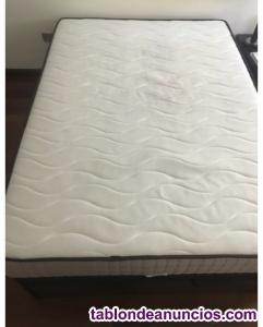Conjunto de colchón más canapé abatible 135x190