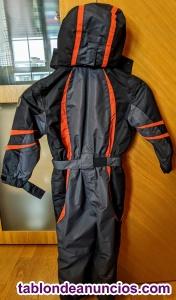 Mono esquí cmp - talla  años) - negro y naranja