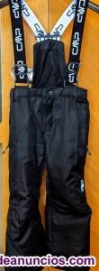Niños pantalón esquí cmp - 110 talla - negro (4-6 años)