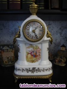 Reloj bologne en cerámica y bronce