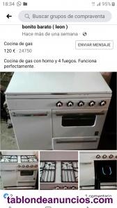 Se vende cocina de gas butano