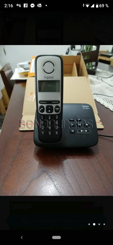 Teléfono inhalámbrico gigaset con poco uso. barato