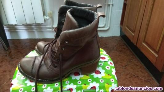 Vendo botas de piel de segunda