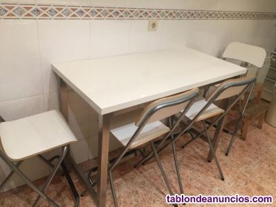Venta de mesa de cocina y sillas