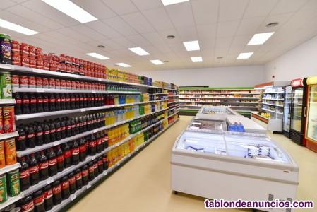 Se alquila supermercado totalmente equipado