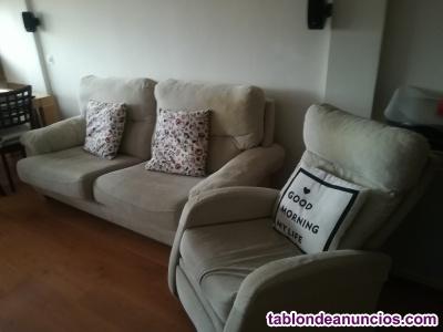 Sofá 3 p y sillón extensible