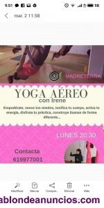 Clases de yoga aéreo en alicante