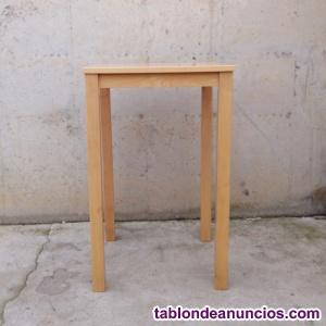 Mesa de madera de haya 70x70x110cm