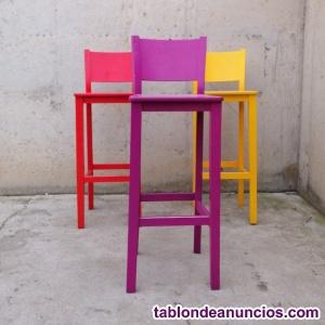 Taburetes de colores 35x35x102cm