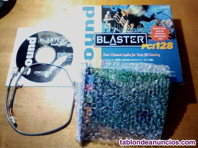 Tarjeta sonido creative sound blaster pci 128