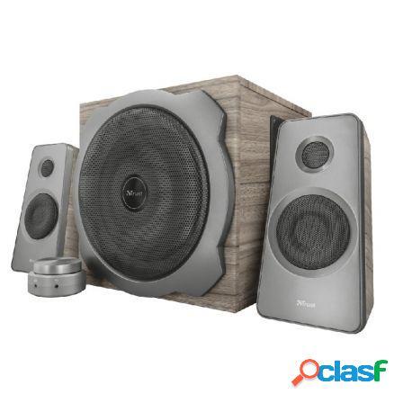Altavoces 2.1 trust tytan speaker set wood - 120w max.(60w