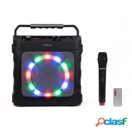 Altavoz bluetooth fonestar partybox - 20w rms - fm - funcion