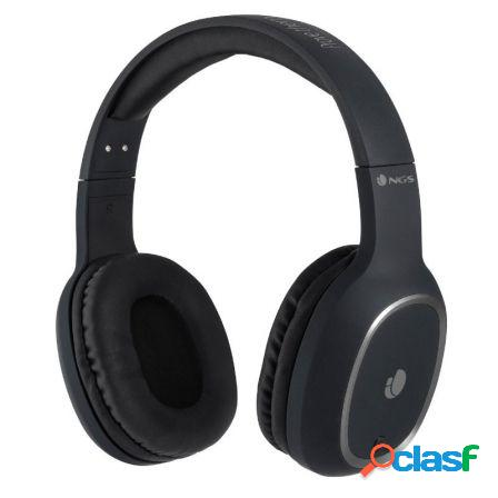 Auriculares bluetooth ngs artica pride black - alcance 10m -