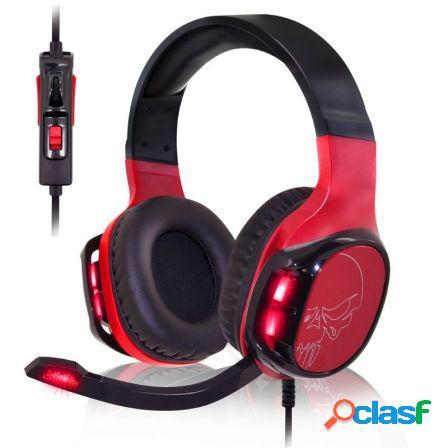 Auriculares con microfono spirit of gamer elite-h60 red -