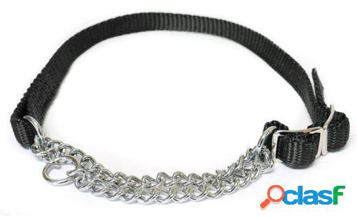 Beaphar Collar Combinado Nylon Negro con Cadena 1.6x34-50 cm