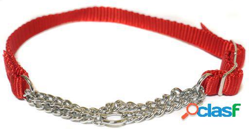 Beaphar Collar Combinado Nylon Rojo con Cadena 1.6x34-50 cm