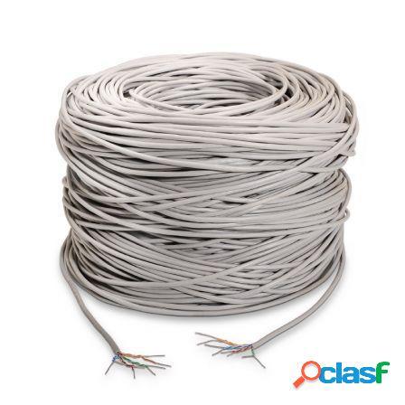 Bobina de cable aisens a133-0209 - rj45 - utp - awg24 rigido